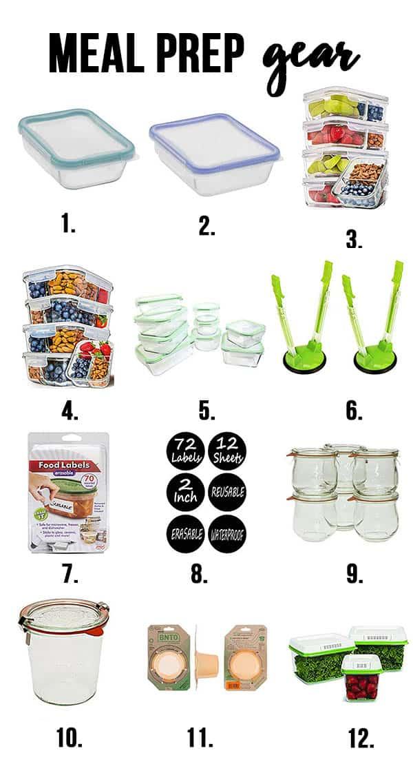 variety of twelve meal prep gear ideas