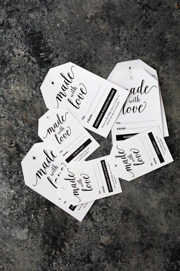 printable gift tags for homemade Christmas gifts