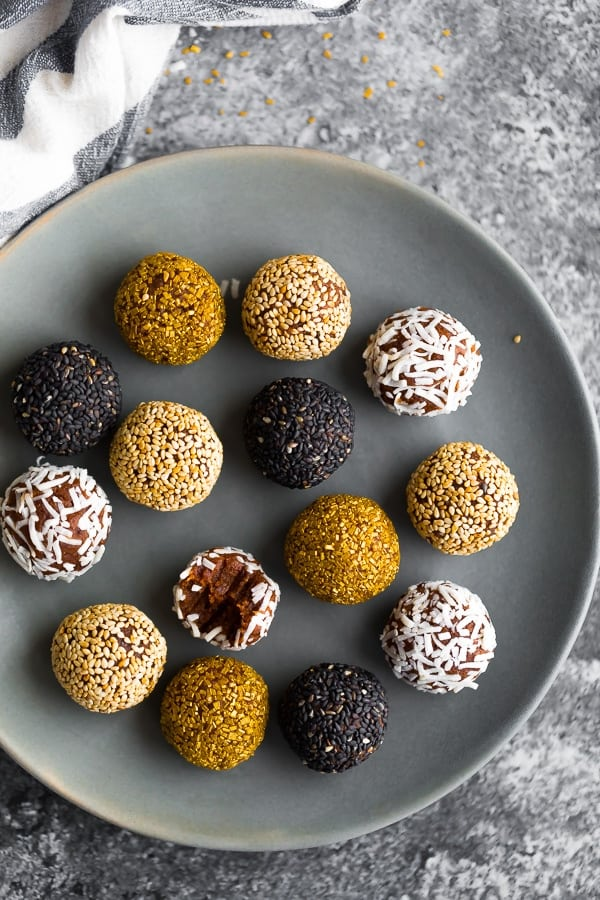 date truffles on a plate
