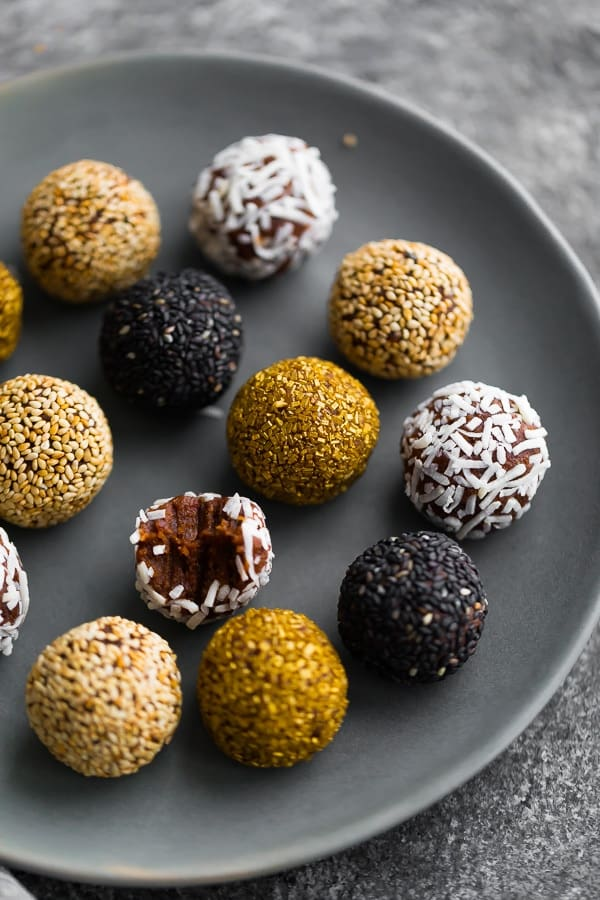 4-Ingredient Date Truffles on a plate