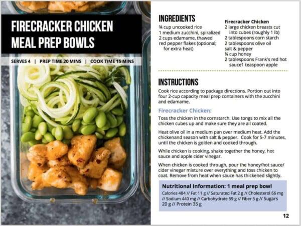 stir fry meal prep ebook pictures