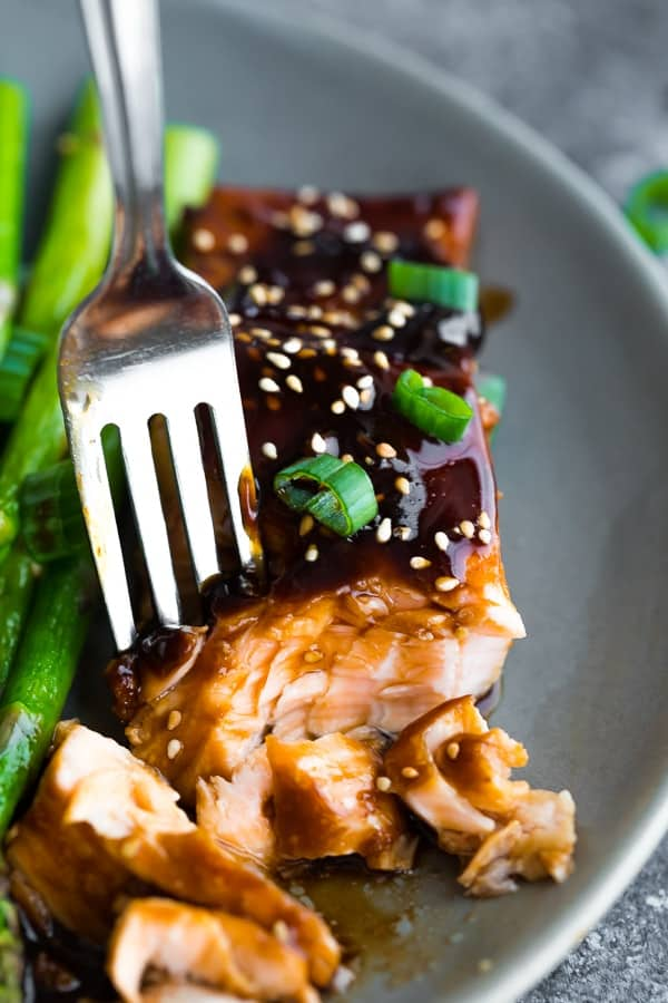 how to cook salmon- showing flavor options with teriyaki glaze