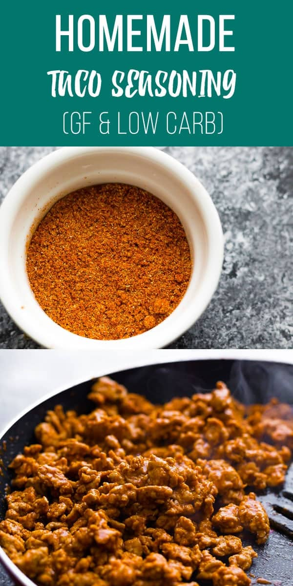 This homemade taco seasoning is gluten-free, low carb and free from chemicals and preservatives. #sweetpeasandsaffron #lowcarb #keto #glutenfree #taco