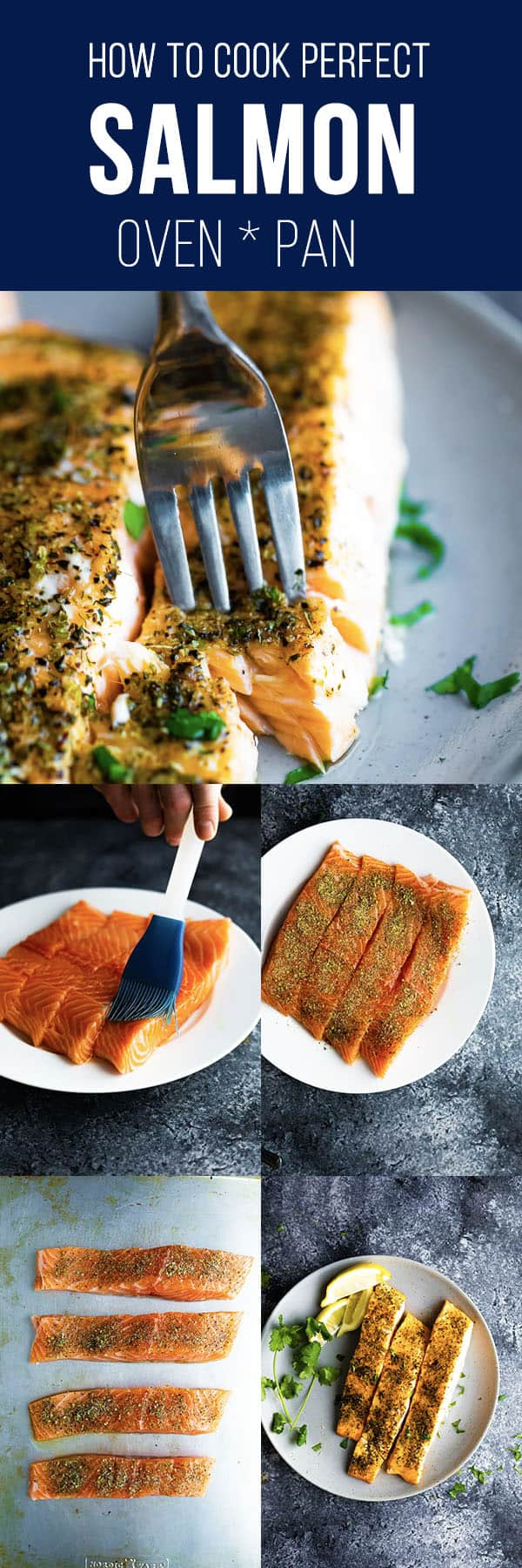How to cook salmon- showing you two EASY ways to get perfect, tender salmon every time! No more dry, overcooked salmon! #sweetpeasandsaffron #salmon