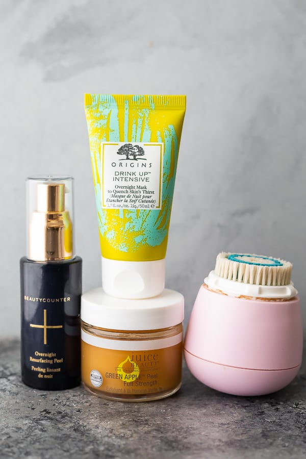 my favorite clean skincare products for once a week