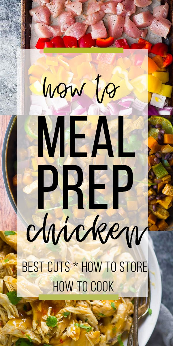 How to Meal Prep Chicken- collage image
