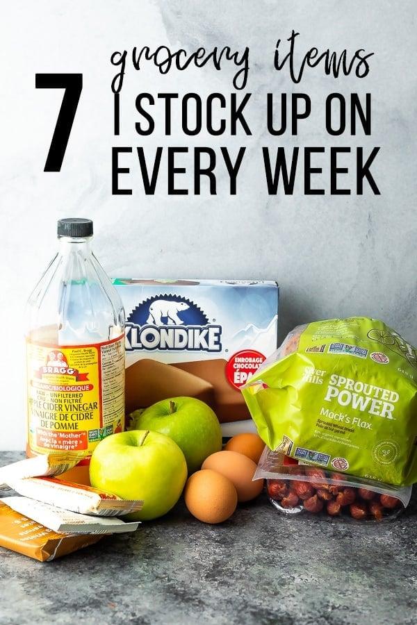 7 Items I stock up on every week hero image