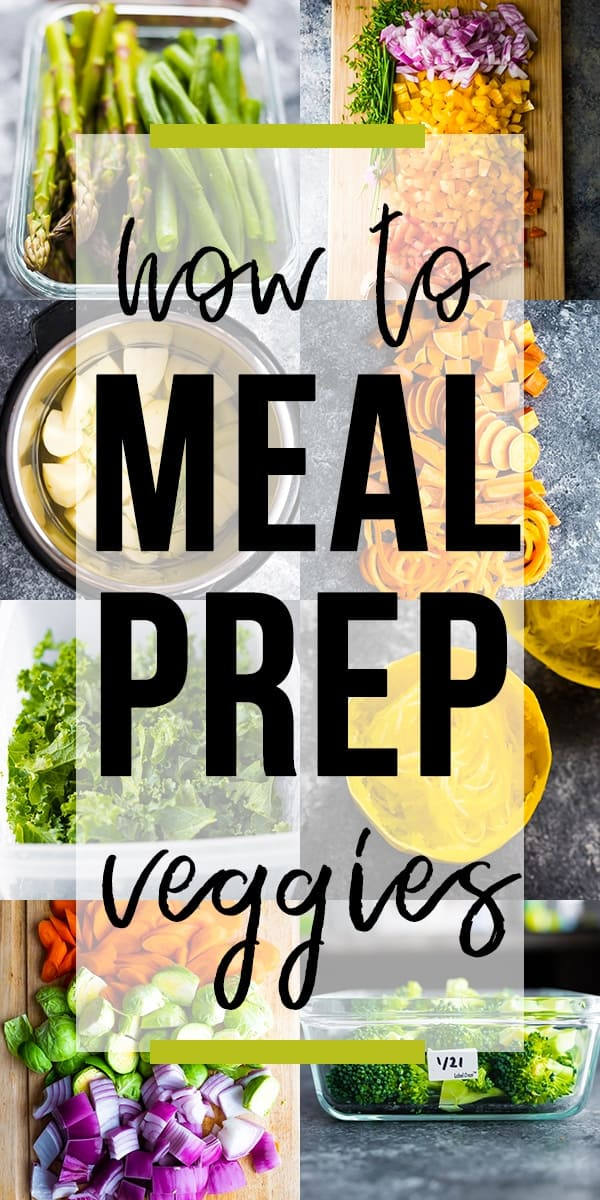 collage image How to meal prep vegetables