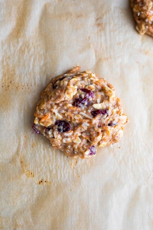 oatmeal breakfast cookies on baking sheet
