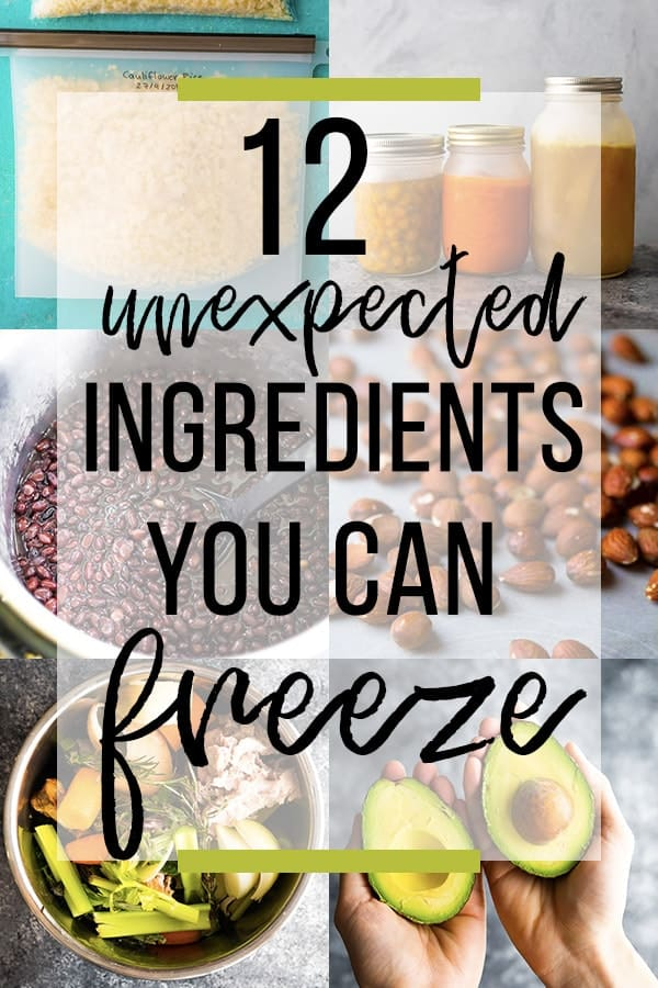 collage image 12 Ingredients you Could be Freezing