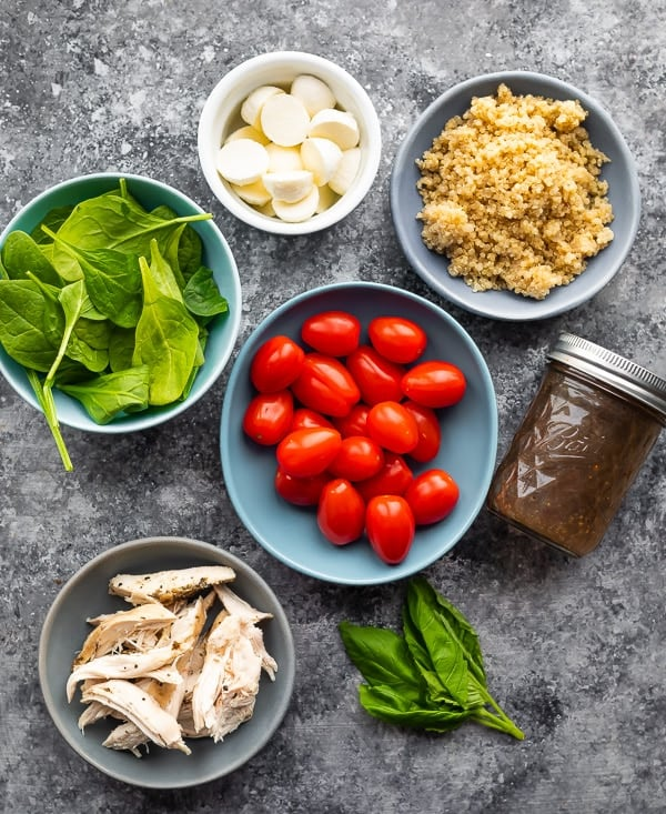 ingredients for the easy quinoa salad