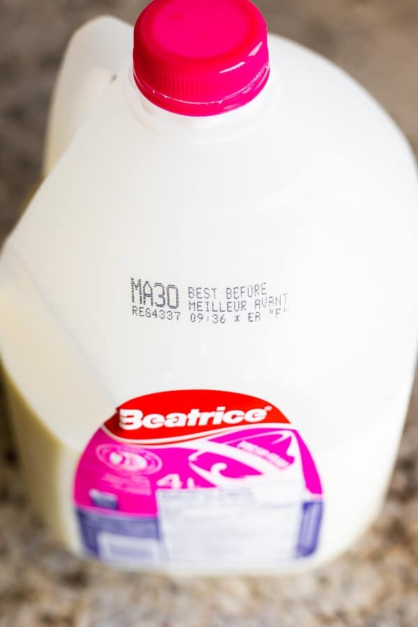 7 ways to reduce food waste- best by date on milk