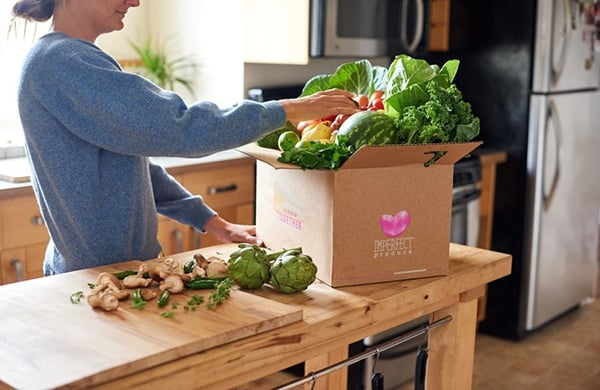 7 ways to reduce food waste- imperfect produce box