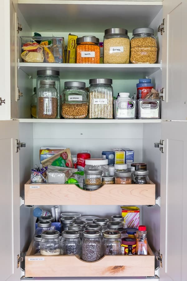 5 Kitchen Organization Tips- store things in clear containers