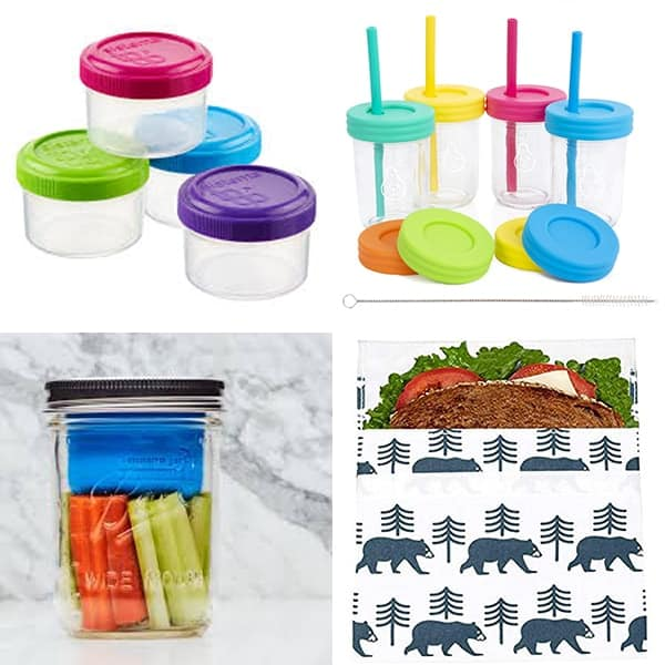 collage image with Misc lunch container accessories