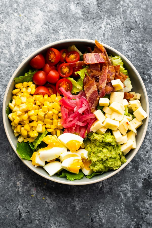 overhead view of Mexican Cobb Salad