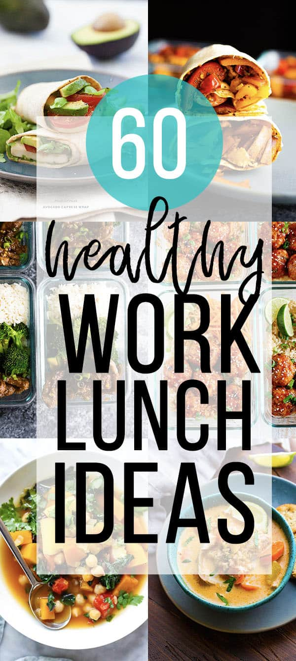 60 healthy lunch ideas for work collage image