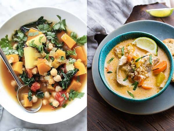 work lunch ideas collage of soups