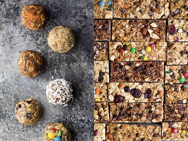 collage image of Granola Bars & Energy Bites