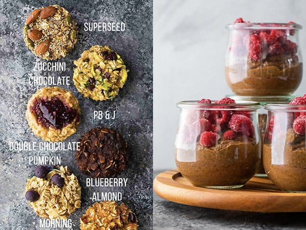 collage image with Muffins & Snacks: