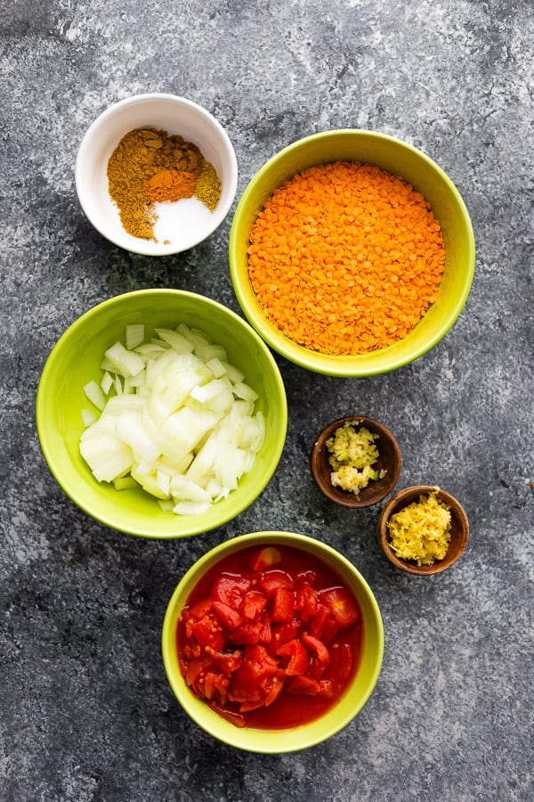ingredients needed for lentil dal