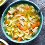 Instant Pot Chicken Noodle Soup (extra noodley)