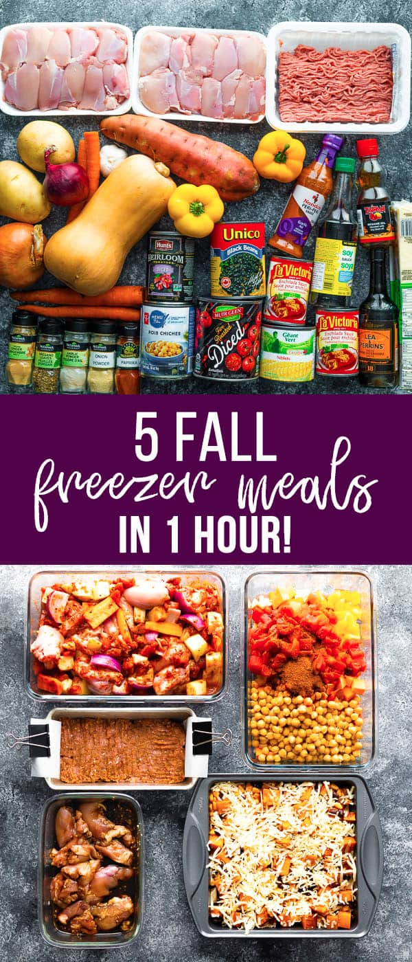 fall freezer dinner stock up hero image