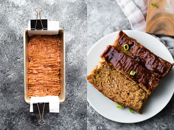 hoisin turkey meatloaf before and after