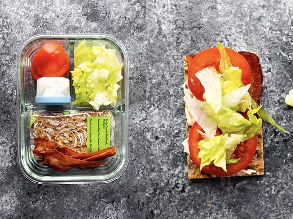 BLT bento lunchbox collage