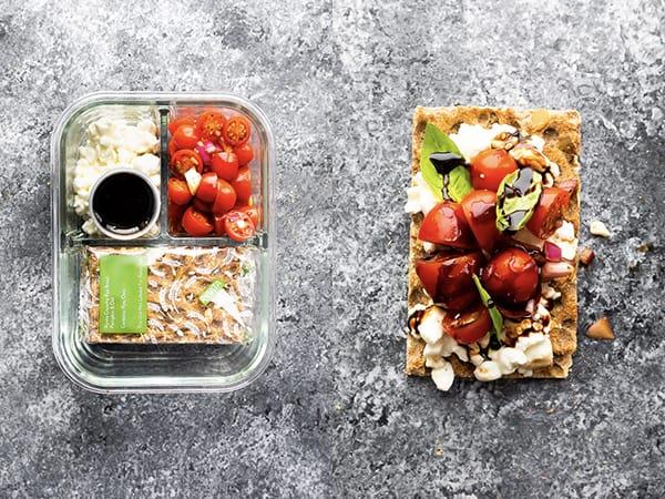 marinated tomato bento lunchbox idea