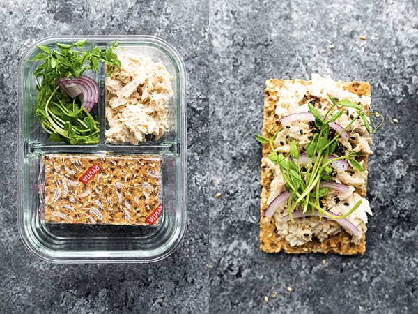 wasabi tuna bento lunchbox idea