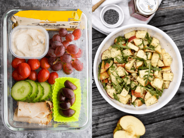 collage image with 38+ No Cook Meal Prep Recipes