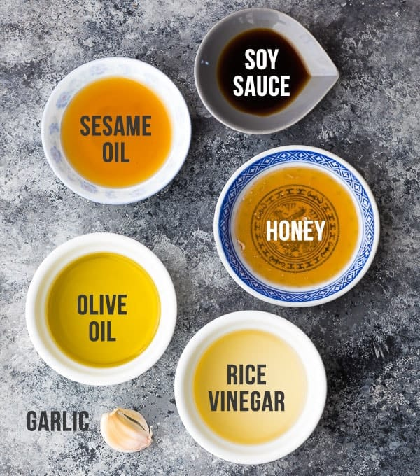 Ingredients required for the Asian Inspired Salad Dressing