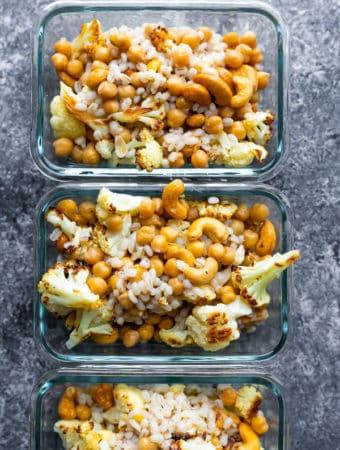 cauliflower cashew meal prep