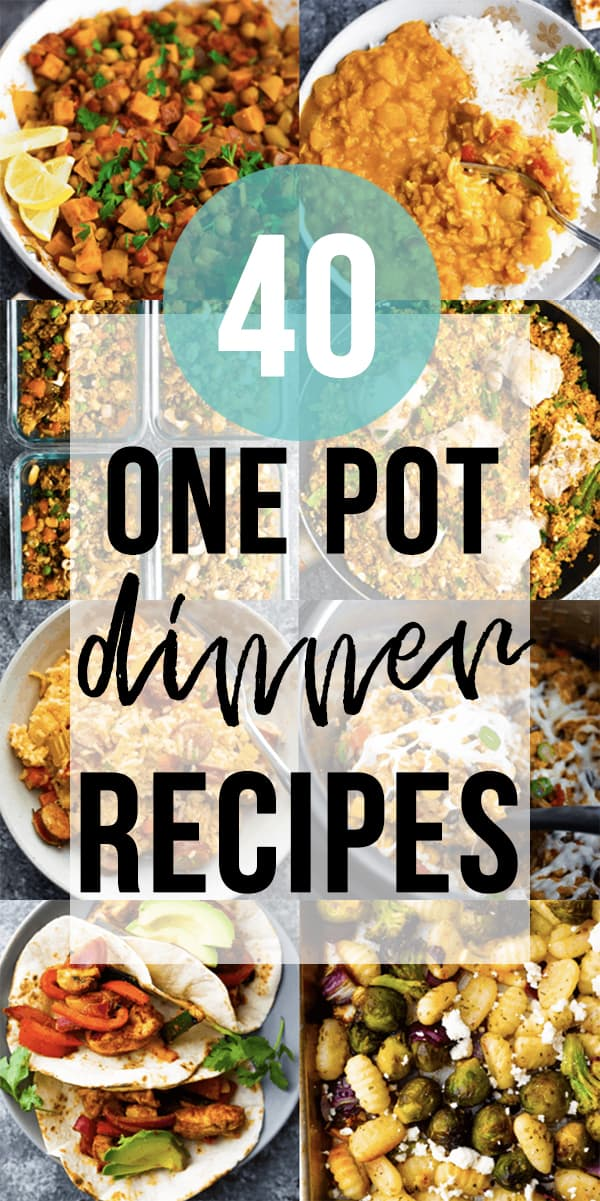 collage image of 40 Easy One Pot Meals
