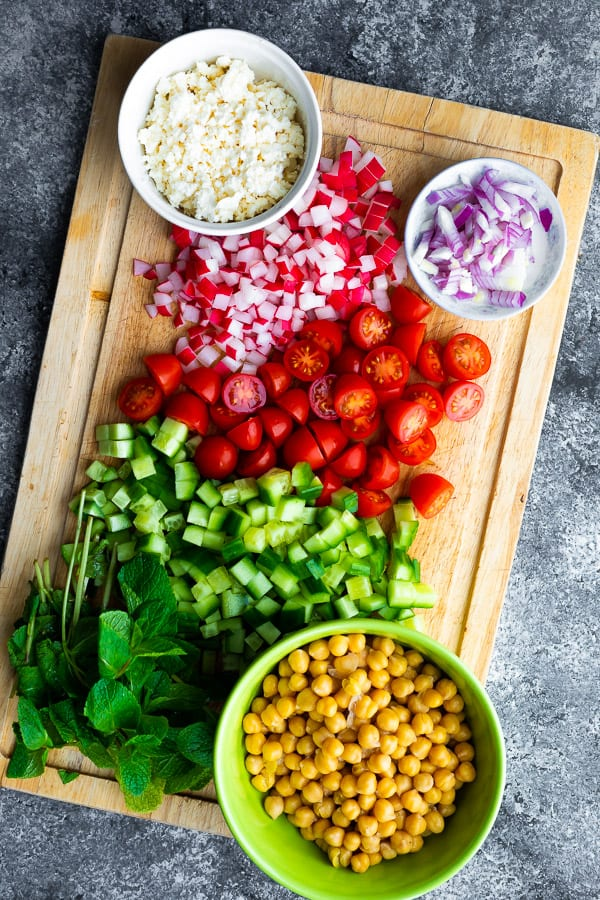 ingredients required for orzo salad