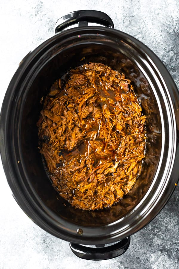 shredded beef in slow cooker
