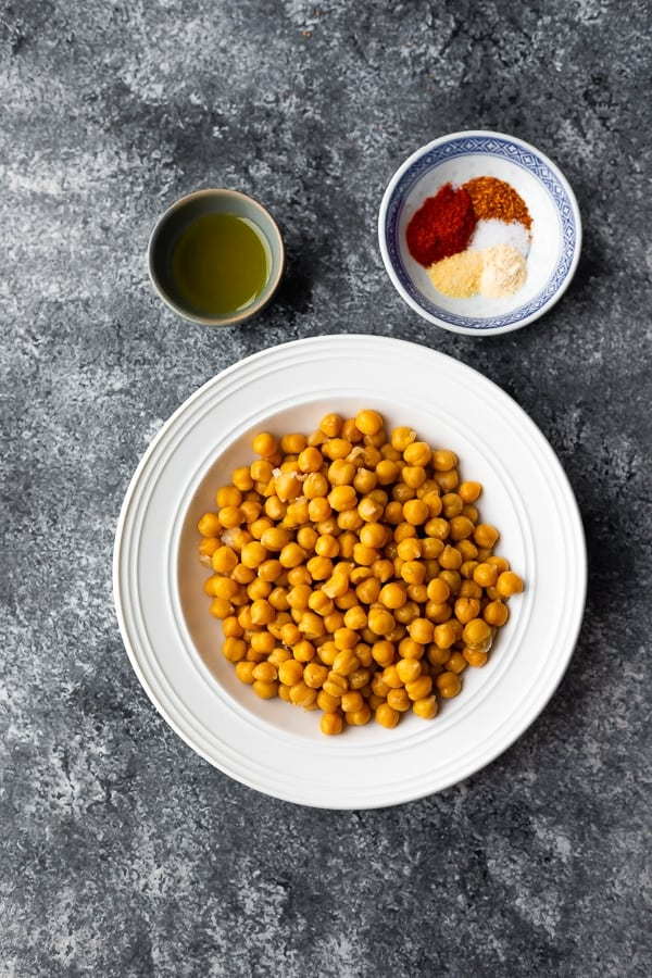 ingredients required to make air fryer chickpeas