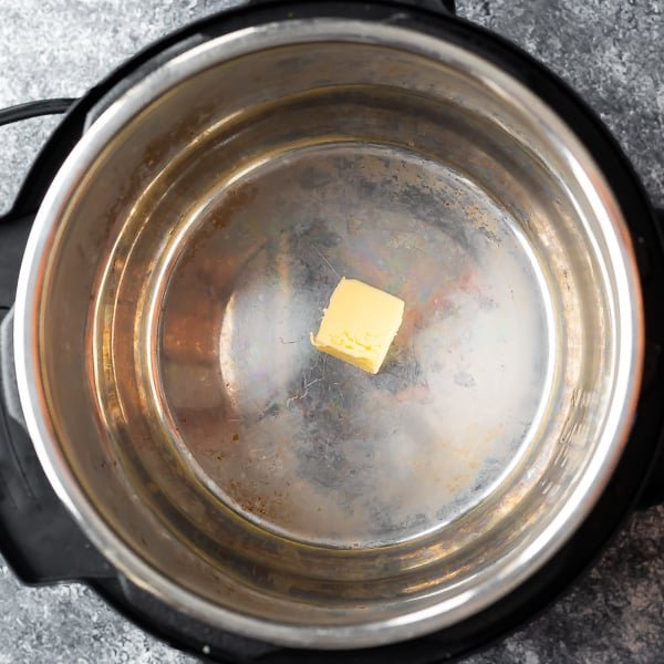 butter in the insert of an instant pot