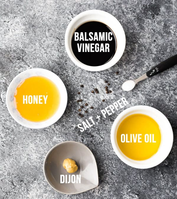 ingredients required for this balsamic vinaigrette recipe