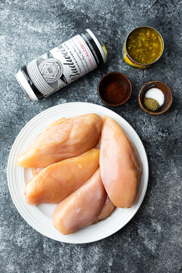 ingredients required to cook beer chicken in the slow cooker