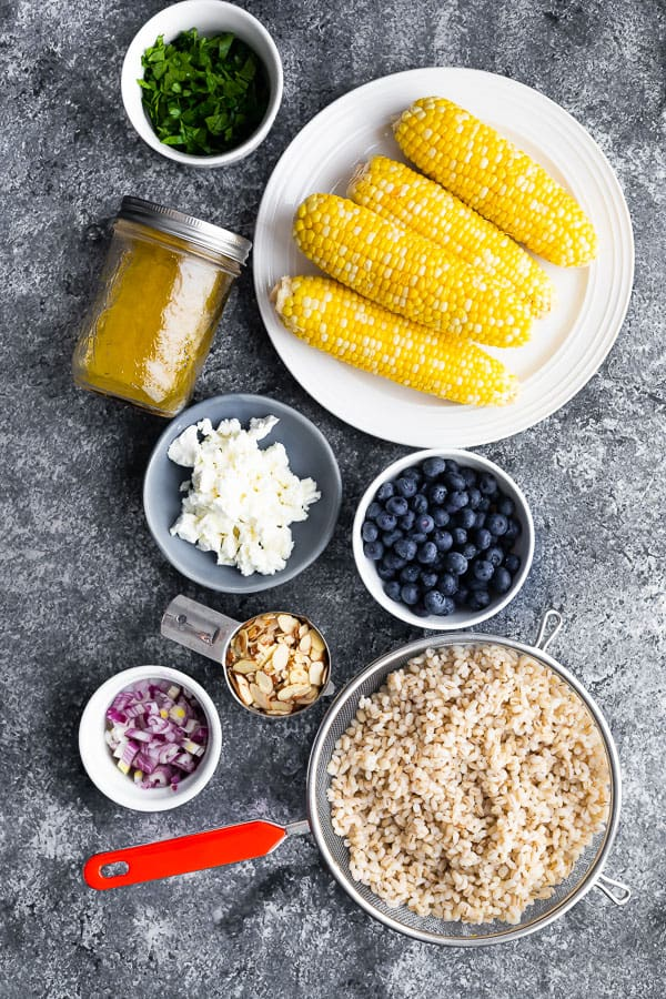 ingredients required for corn barley salad
