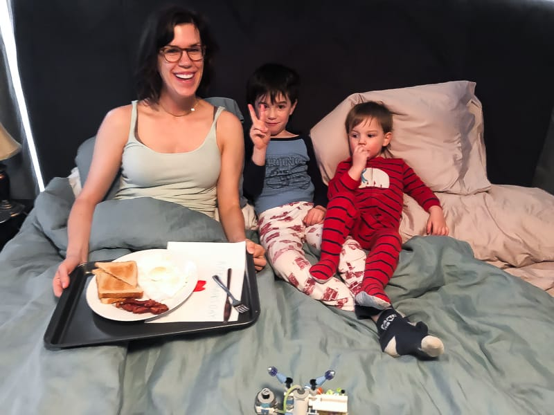 breakfast in bed with the boys