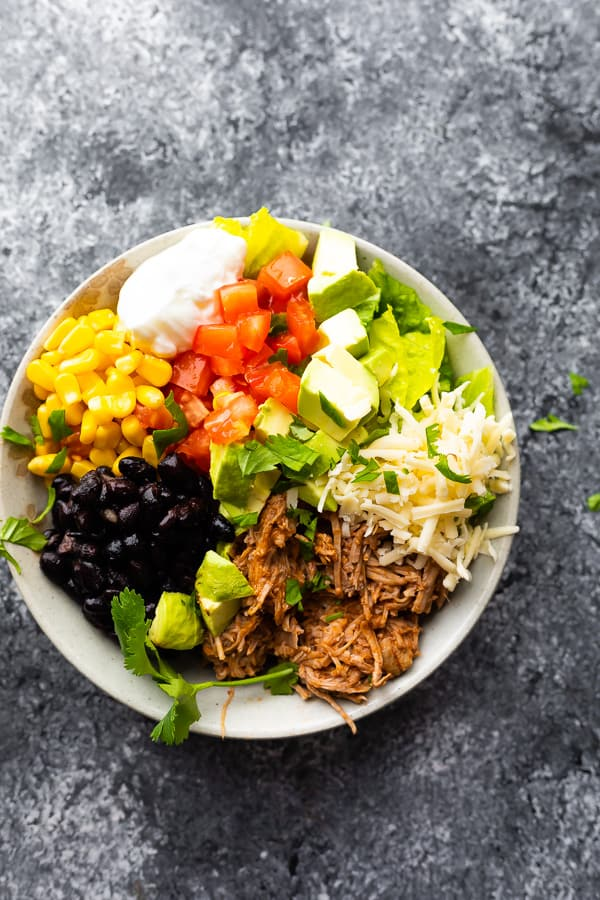 healthy burrito bowls in just one bowl