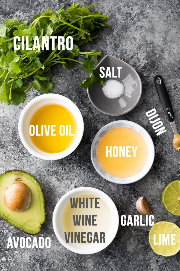 ingredients required to make creamy cilantro lime dressing