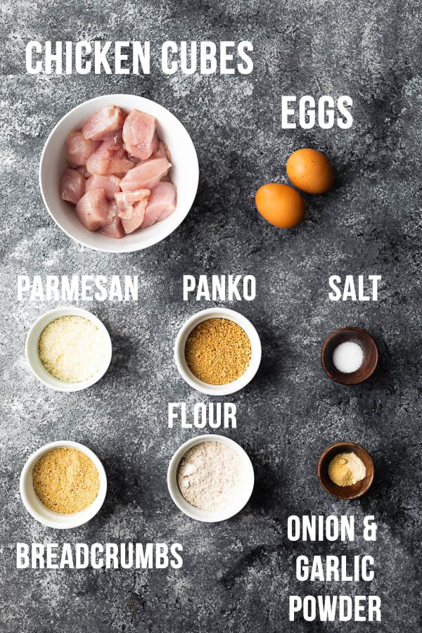 ingredients required to make chicken nuggets