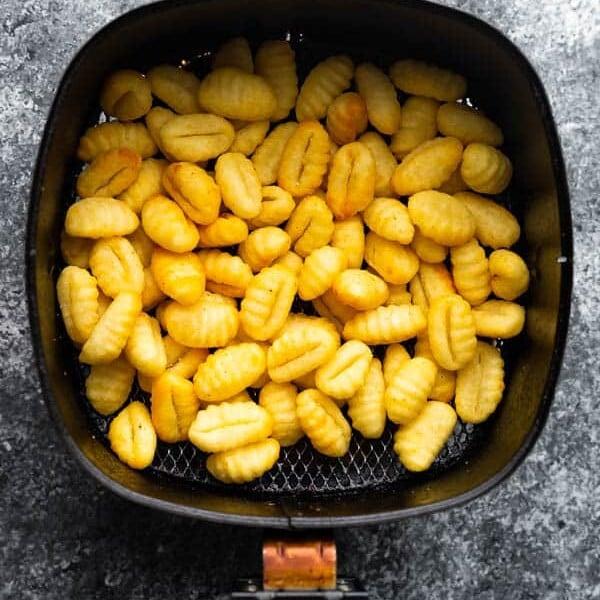 gnocchi in air fryer basket