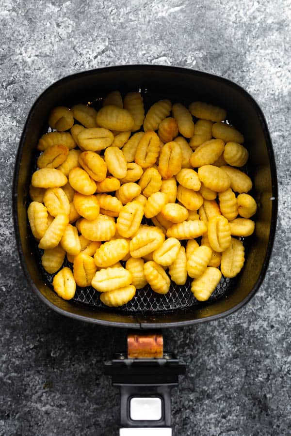 gnocchi in air fryer basket
