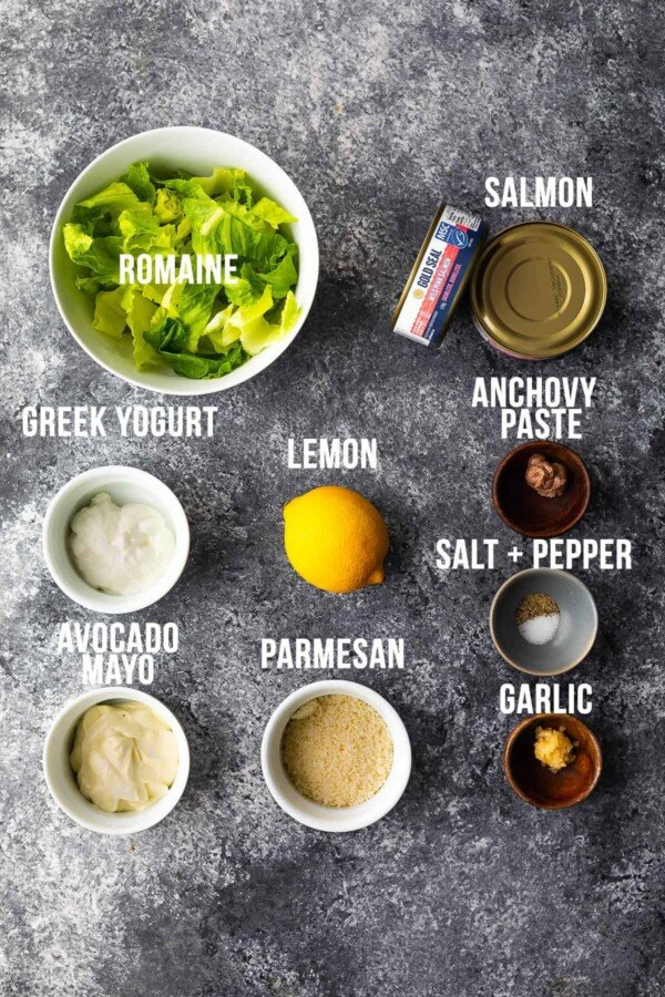 ingredients needed to make caesar salmon wraps