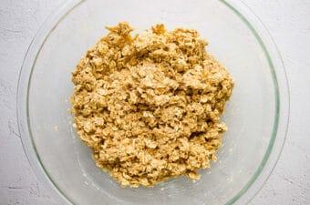 batter for apple quinoa breakfast bars in bowl